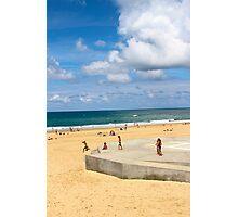 Kids Having Fun on the Beach - Hossegor, France Photographic Print