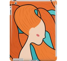 Redhead sea woman stained glass style iPad Case/Skin