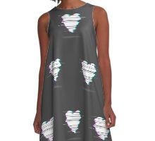 GLITCH HEART  A-Line Dress
