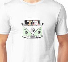 VW Camper Santa Father Christmas Pale Green Unisex T-Shirt