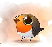 Cute Fat Robin by Demmy
