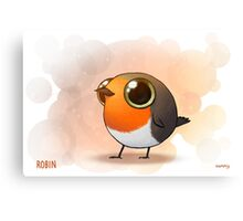 Cute Fat Robin Canvas Print