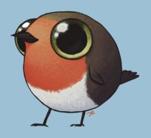 Cute Fat Robin Kids Tee