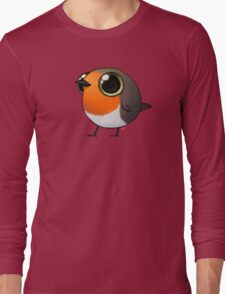 Cute Fat Robin Long Sleeve T-Shirt