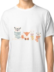 Christmas animal pattern, 001 Classic T-Shirt