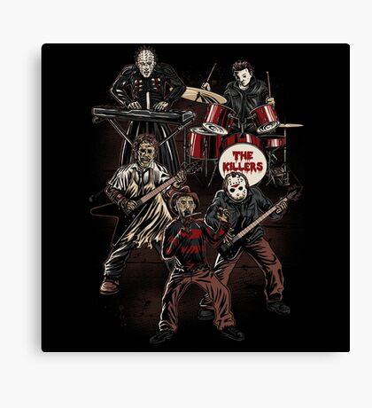 Death Metal Killer Music Horror Canvas Print