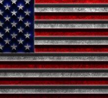 American Flag Stone Texture Sticker