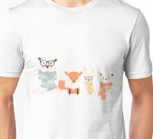 Christmas animal pattern, 002 Unisex T-Shirt