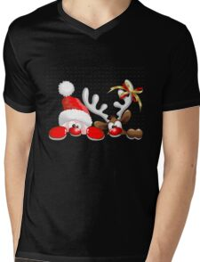 Funny Christmas Santa Mens V-Neck T-Shirt