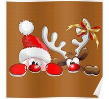 Funny Christmas Santa Poster