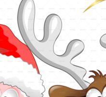 Funny Christmas Santa Sticker