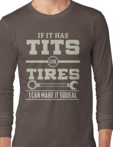 I can make it squeal - Mechanic Hoodie Long Sleeve T-Shirt