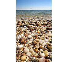 Beach Pebbles, Orient Point, Long Island, New York Photographic Print