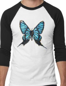 Rebirth Butterfly Cut Men's Baseball ¾ T-Shirt