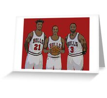 Bulls Big Three Greeting Card