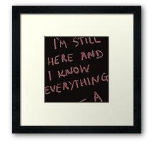 pretty little liars Framed Print