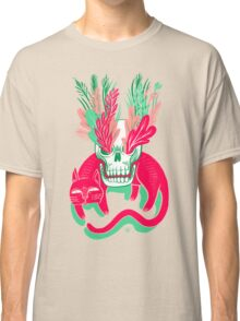 Cat Skull Garden Classic T-Shirt