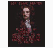 Plato Is My Friend - Isaac Newton Kids Tee