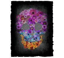 Sugar Skull Made Of Flowers Photographic Print