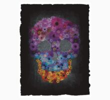 Sugar Skull Made Of Flowers Kids Tee