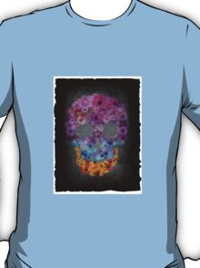 Sugar Skull Made Of Flowers T-Shirt