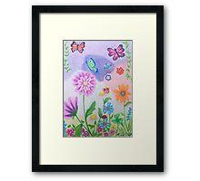 Butterflies and flowers Framed Print