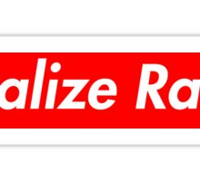 Legalize Ranch - Red - Supreme Font Sticker