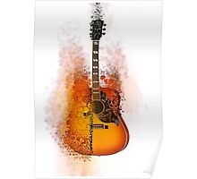 Exploding Gibson Guitar Poster