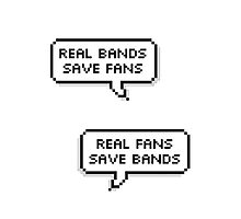 Real Bands, Real Fans Photographic Print