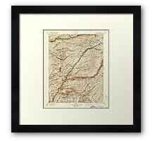USGS TOPO Map California CA Big Trees 299224 1901 125000 geo Framed Print