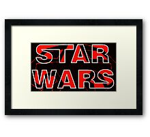 Star Wars with Darth Maul pattern Framed Print