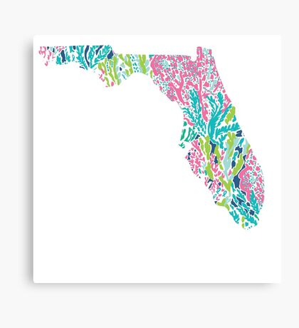 Florida Lilly Pulitzer Coral Canvas Print
