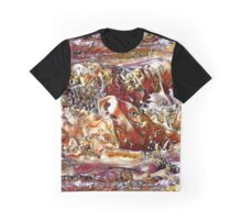 Foamy  Frothy Shapes from a Wave Graphic T-Shirt