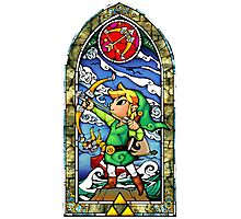 LoZ Bow and Arrow Stained Glass Photographic Print