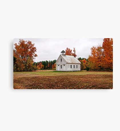 The Old Schoolhouse on Maple Ridge Canvas Print