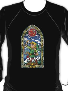 LoZ Bow and Arrow Stained Glass T-Shirt