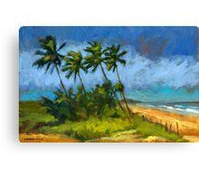 Coqueiros de Massarandupió (Palm Trees, Brazil) Canvas Print