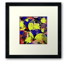 PTC - Primary Texured Circles Framed Print