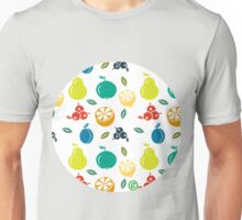 Colorful Fruit Illustration Unisex T-Shirt