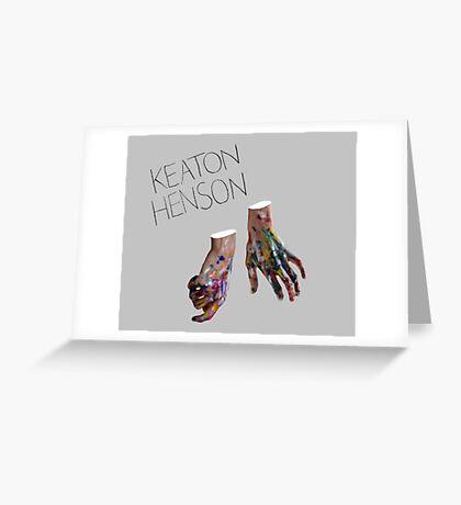 Keaton Henson - Hands Artwork Greeting Card