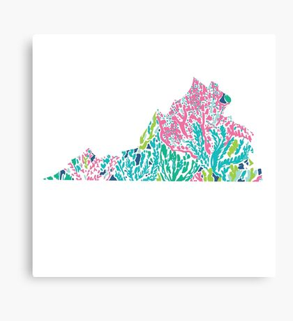 Virginia Lilly Pulitzer Coral Canvas Print
