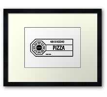 Dharma Pizza Framed Print