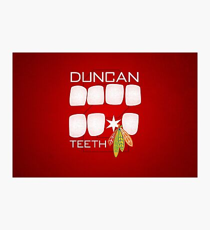 Duncan Teeth Photographic Print
