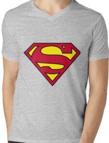 SUPERMAN  Mens V-Neck T-Shirt