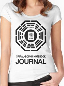 Spiral Notebook Dharma Women's Fitted Scoop T-Shirt