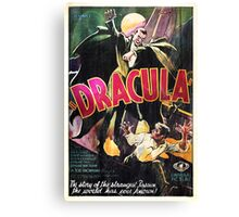 Vampire Poster Canvas Print