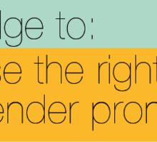 I pledge to use the right gender pronouns Sticker