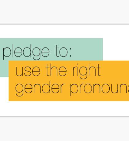 I pledge to use the right gender pronouns Sticker