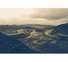 Across the lava plains Photographic Print