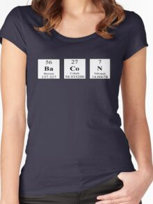 Bacon Periodic Table Women's Fitted Scoop T-Shirt